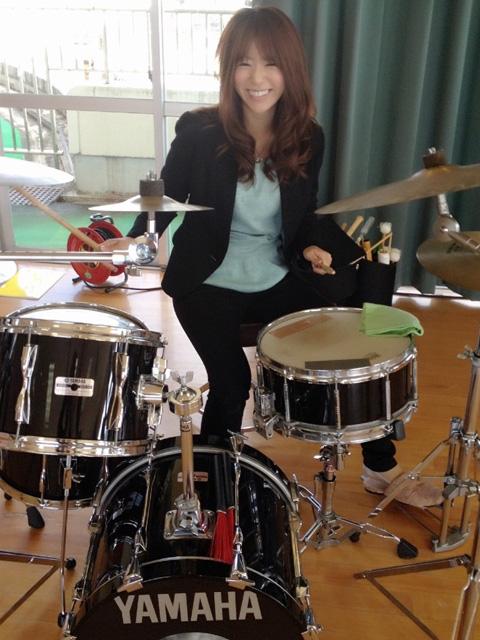 趣味のドラム!取材先で久しぶりに演奏してみました☆