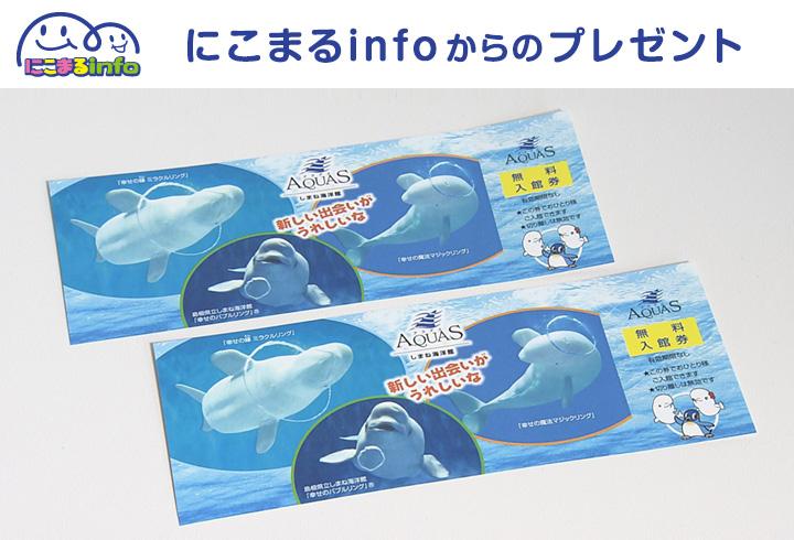 【にこまるinfo】しまね海洋館アクアス 入館券(有効期限なし)