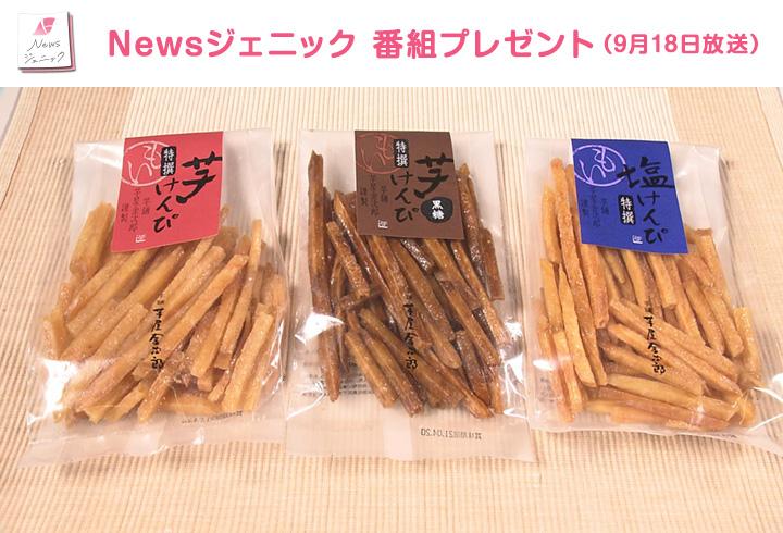 【Newsジェニック】芋けんぴ(特撰、黒糖、塩)のセット